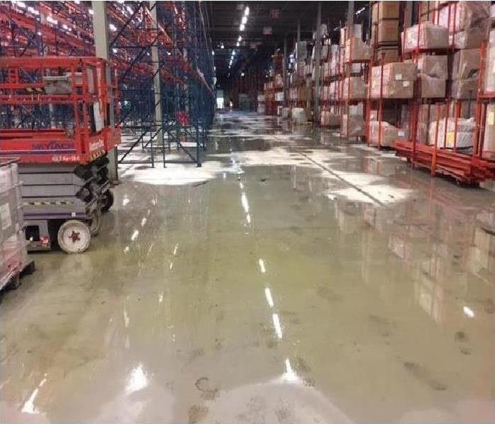 Commercial Water Damage – Atlanta Warehouse Before