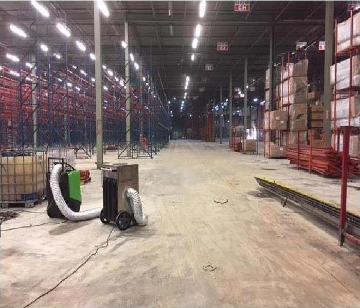 Commercial Water Damage – Atlanta Warehouse After